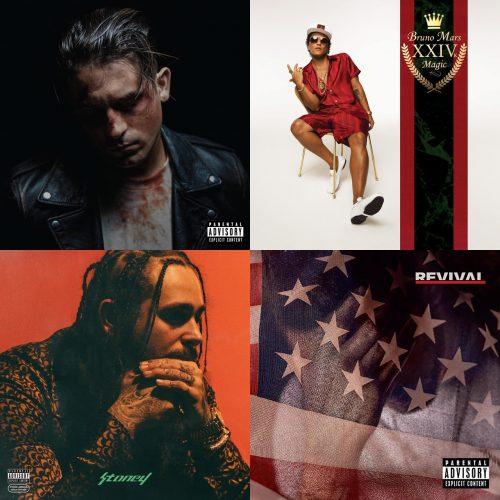 ALBUM SALES (week 2, 2018): G-Eazy, Bruno Mars, Post Malone, Eminem