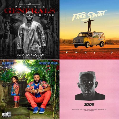 ALBUM SALES (week 23, 2019): Kevin Gates, Khalid, DJ Khaled, Tyler