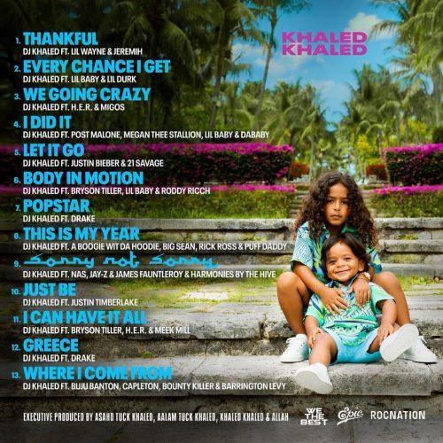DJ Khaled Khaled Khaled tracklist